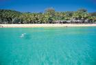 モートン島の美しいビーチ