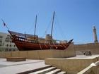 写真映えする船の模型はドバイミュージアムにある