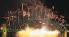 7ヶ所で同時に打ち上げられるカウントダウンの花火