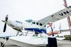 ハノイからハロン湾までは水上飛行機に搭乗