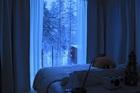 大きな窓があるお部屋からは夜はオーロラが見られるかも!?