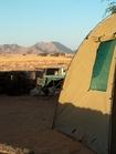 アフリカ大陸でキャンプ体験