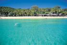 タンガルーマリゾートの透き通る海