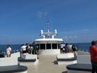 甲板にて潮風を風を浴びながら景色を楽しめます。