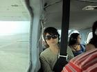 ナスカの地上絵ツアーの機内の様子