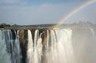 ザンビア側からのヴィクトリアの滝