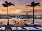マリーナ・ベイ・サンズ・シンガポールから見る夕焼け