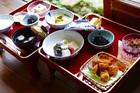 精進料理が食べられるのは宿坊ならでは。