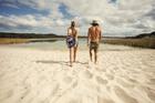 世界で3番目に大きな砂の島、モートン島