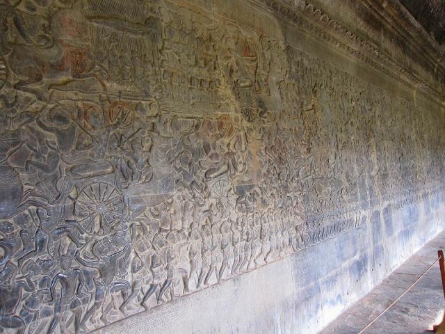 戦争を表した壁画