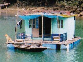 水上で生活する村の人々を見学できます!