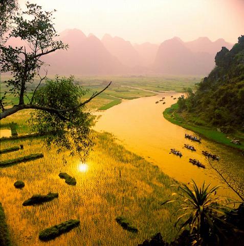 夕日を浴びる絶景に感動です!
