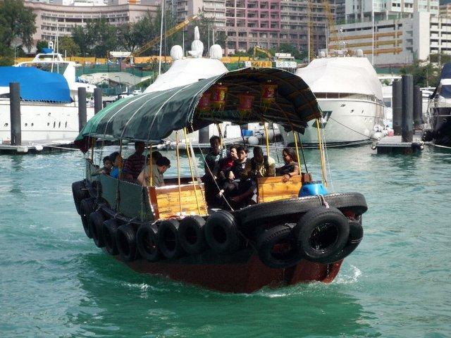 サンパン船にも乗車