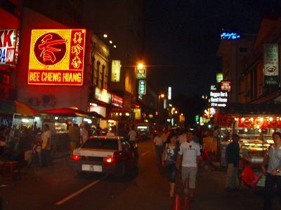 夜のチャイナタウン