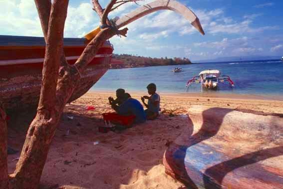 パダンバイのビーチ