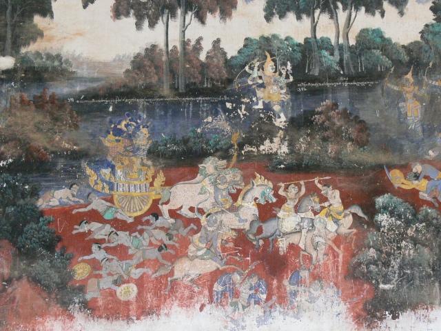シルバー・パゴタ内「ラーマーヤナ」の壁画