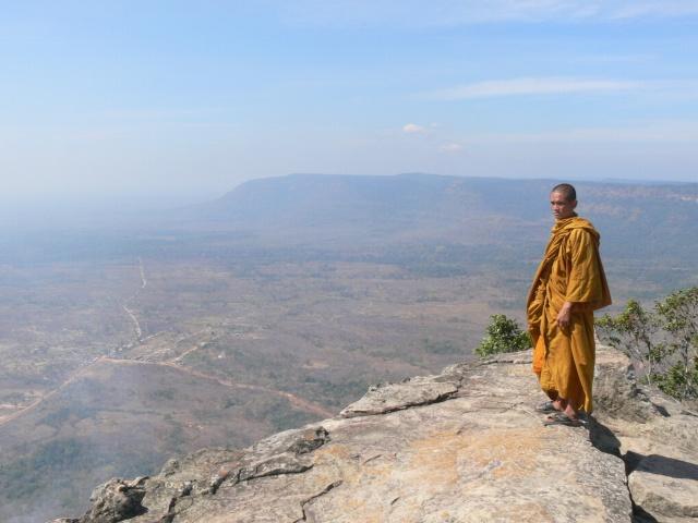 眼下にカンボジアの大平原が広がる