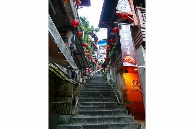 九?の街中は長い階段がいっぱい