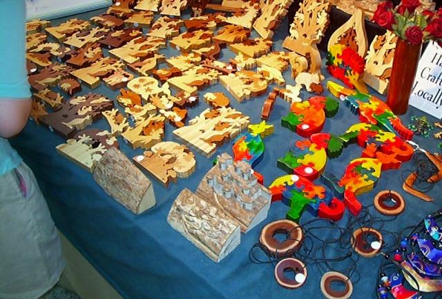 キュランダマーケットは工芸品がいっぱい