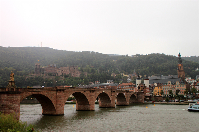 最古の橋アルテ・ブリュッケとハイデルベルグ城