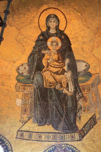 アヤソフィアモザイク画「後陣の聖母子」