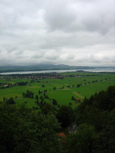 ノイシュヴァンシュタイン城からの眺め
