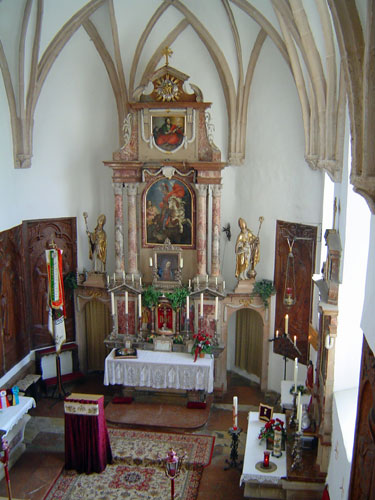 ホーエンザルツブルグ城内部祭壇
