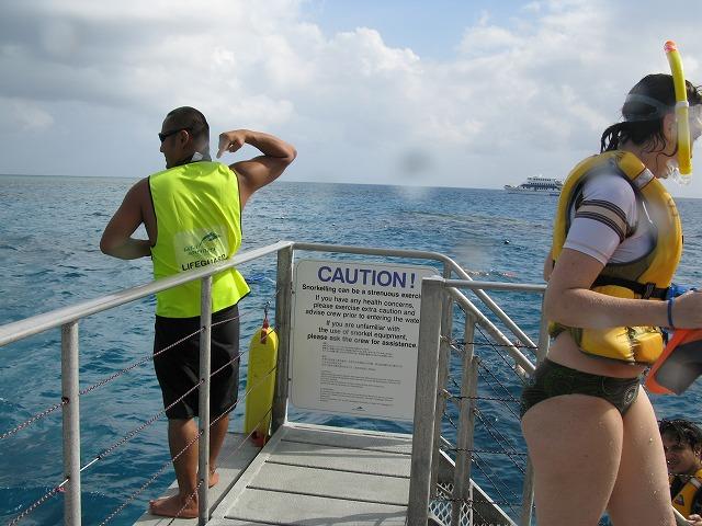 スタッフが海の安全を守ってくれています