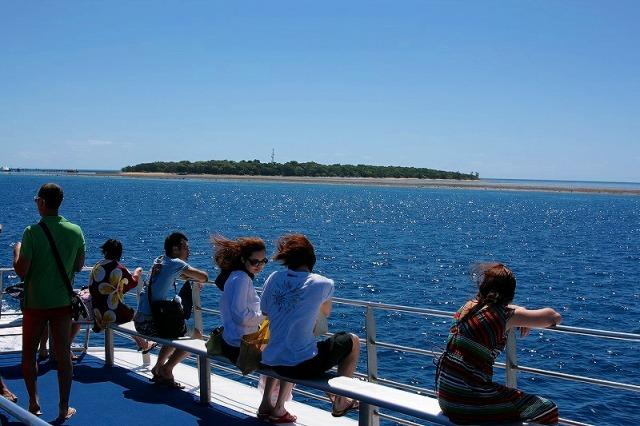 グリーン島から再びクルーズ