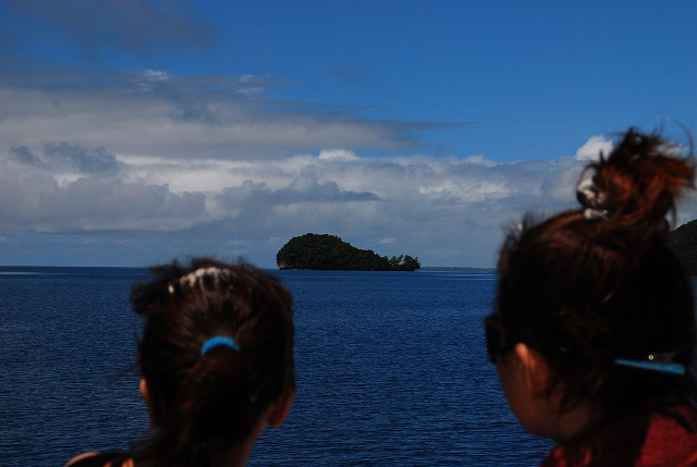島が見えてきた!