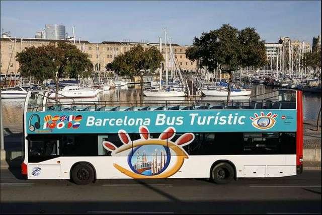 2階建てのバスに乗ってバルセロナ観光。