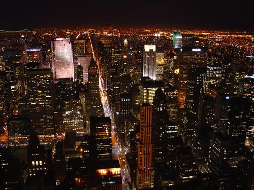 美しい百万ドルの夜景