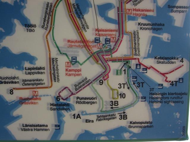 トラムや地下鉄も乗り降り自由