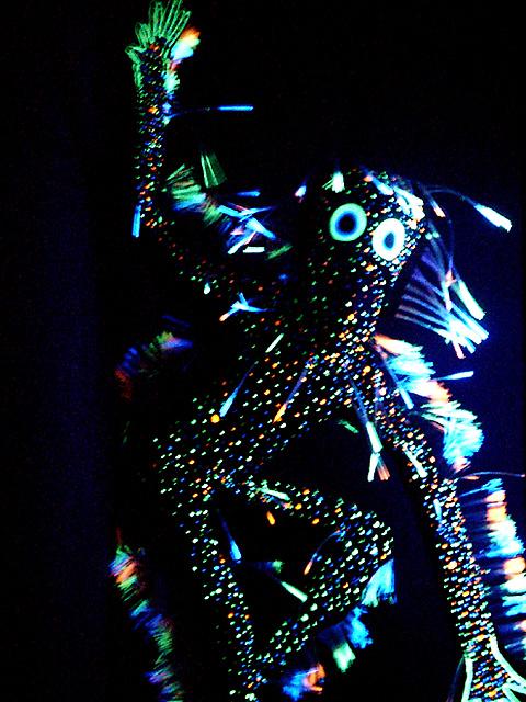 幻想的な光のショー