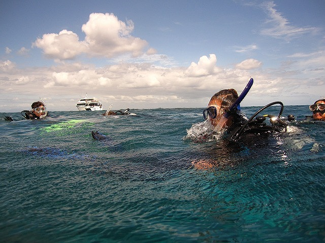 水面からもわかる透明度のよさ。行ってきます!