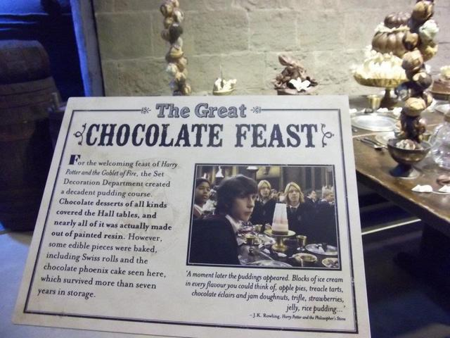 チョコレートフェイストのテーブルコーナー