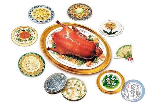 北京ダックとダックを使った料理の数々(イメージ)