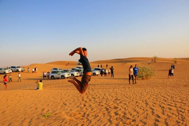 砂漠エリアは風があり、意外と過ごしやすい