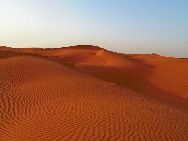 延々と広がる砂漠地帯