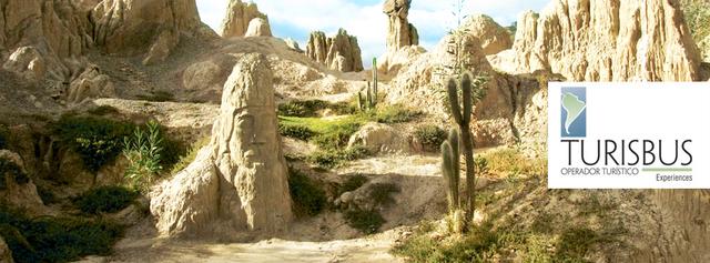 ラパスの代表観光地、月の谷の光景。