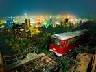 オープントップバス・ビクトリアピーク夜景鑑賞(優先乗車トラム付き)