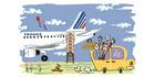 パリ市内ホテルからシャルル・ド・ゴール空港またはオルリー空港