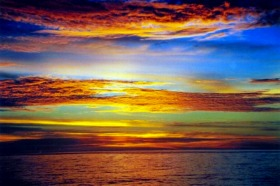 アンダマン海に沈む夕日を見に行く!!ランカウイ島発 イブニングクルーズ