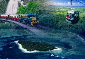2大世界遺産ツアー キュランダとグリーン島を1日ツアー