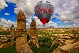カッパドキア熱気球フライト!世界遺産上空をふわり空の旅