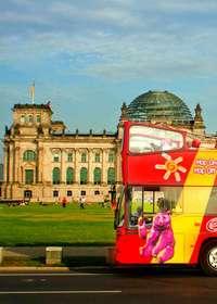 ベルリンシティサイトシーイング 乗り降り自由!2階建てオープントップバス
