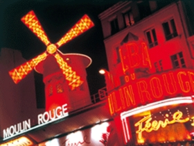 パリ発 プライベート送迎つき!ムーラン・ルージュディナーショー
