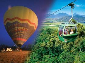 熱気球とキュランダ観光・片道スカイレール付き