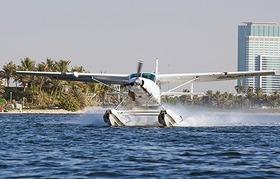 水上飛行機 45分遊覧飛行 ドバイオールドタウン 市内観光付き