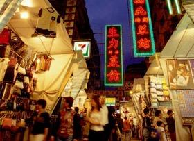 ナイトマーケット散策とローカル海鮮ディナー+オープントップバス